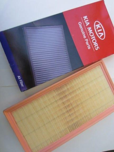 Замена воздушного фильтра Киа Спектра